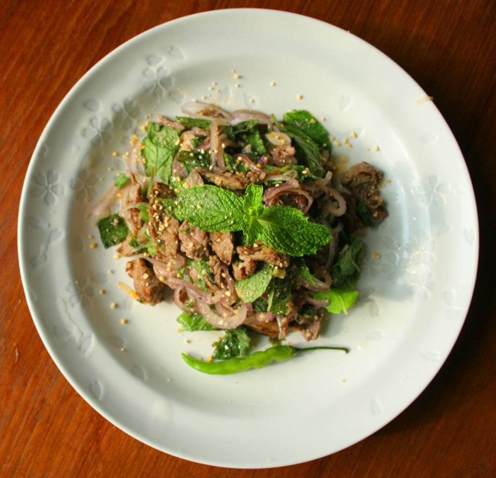 Yum Nam Tok (Thai Beef Salad)