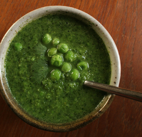 Chilled Sugar Pea Mint Soup