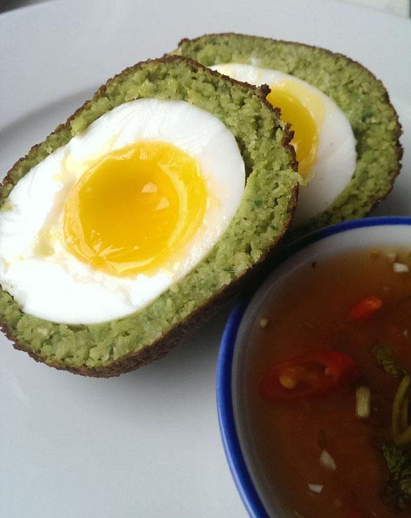 Scottish Middle Eastern Falafel Egg