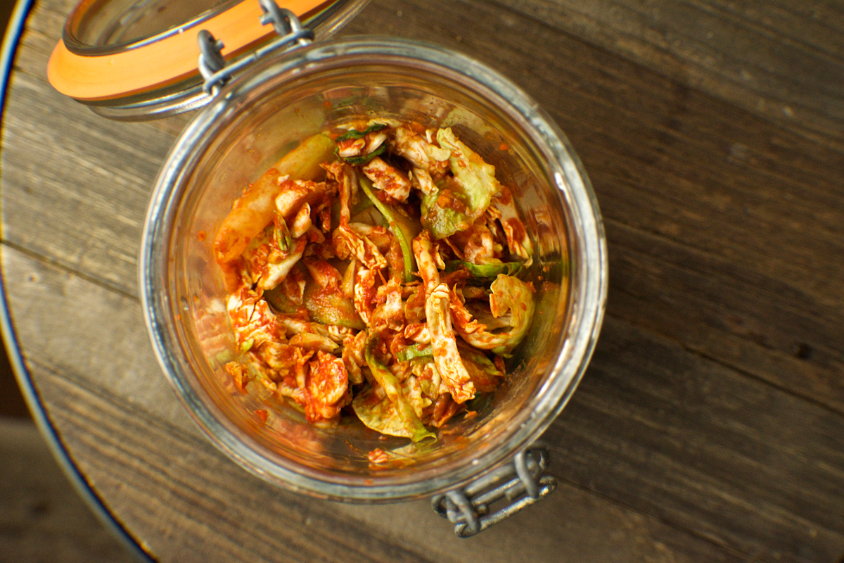 Kimchi Brussel Sprouts